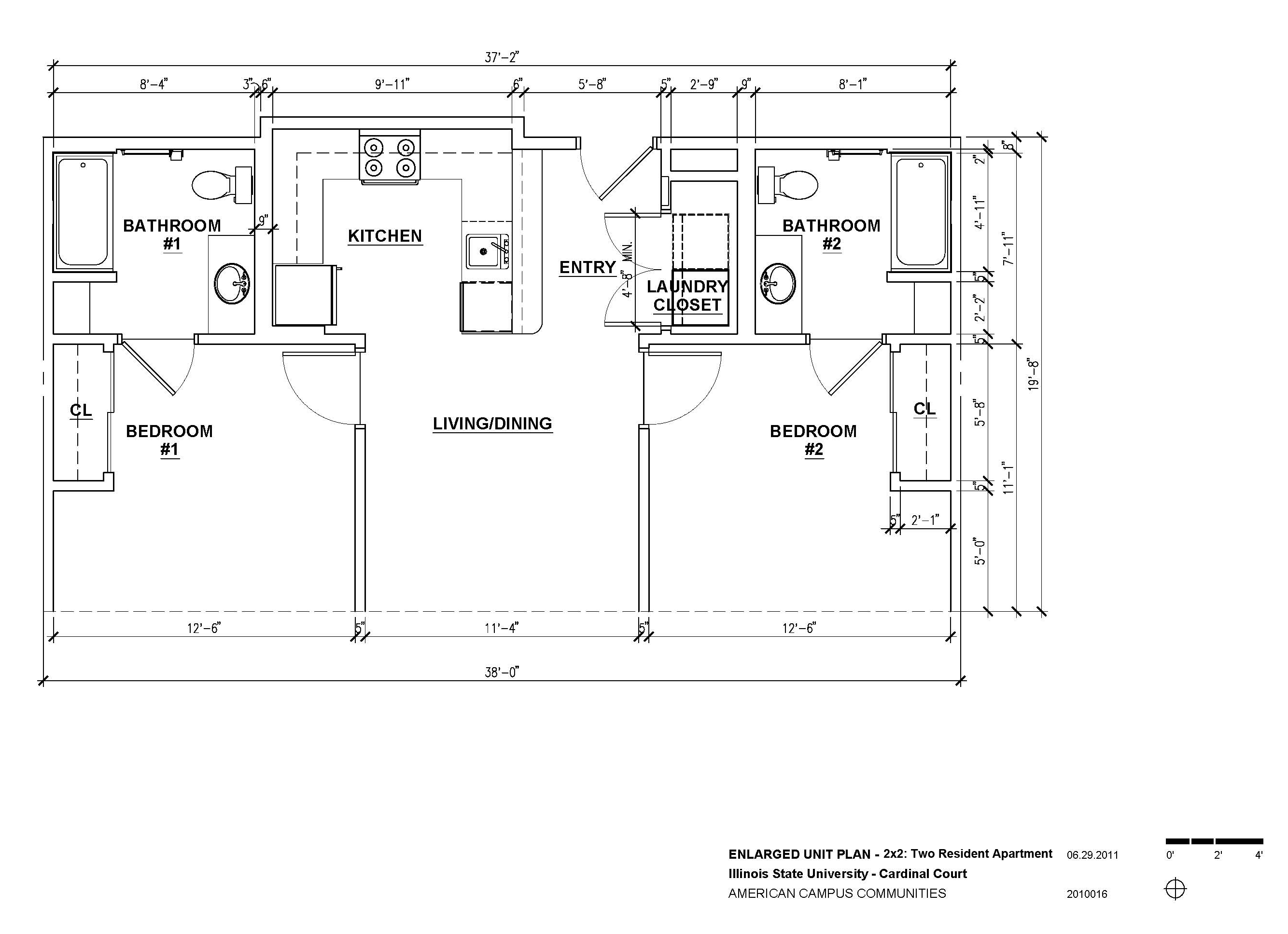 Cardinal Court University Housing Services Illinois State Campus Cable Television System Tv Definition And Diagram Floor Plan 3d Layout